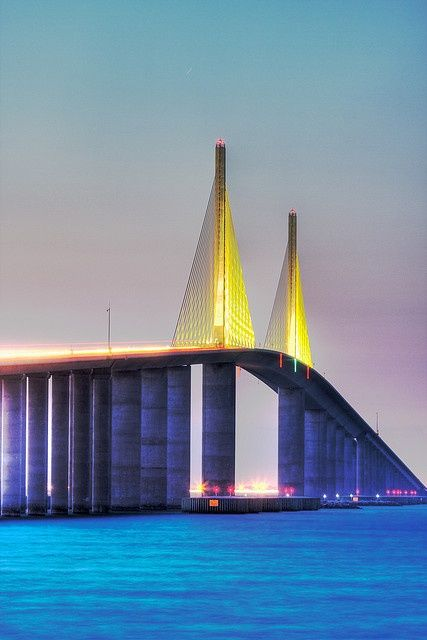 Sunshine Skyway Bridge St. Petersburg Florida #Florida #bridge