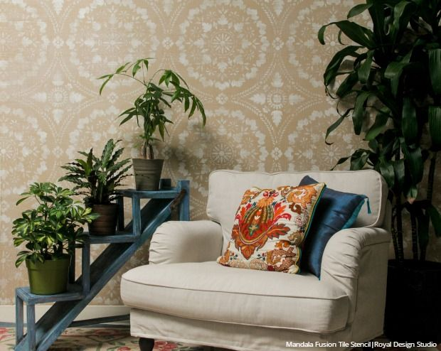 home decor trend watch decorating with texture diy tutorials and wall stencils for easy interior design texture ideas raised embossed pattern with - Interior Design Wall Painting
