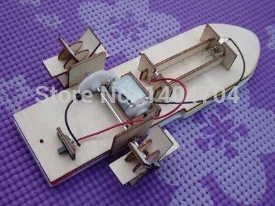 Envío libre Laser-cut kit modelo de lancha barco de motor modelo de rompecabezas de madera juguetes educativos para niños