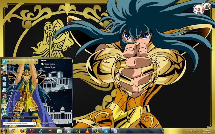 Temas para windows7 de los 12 Caballeros Dorados