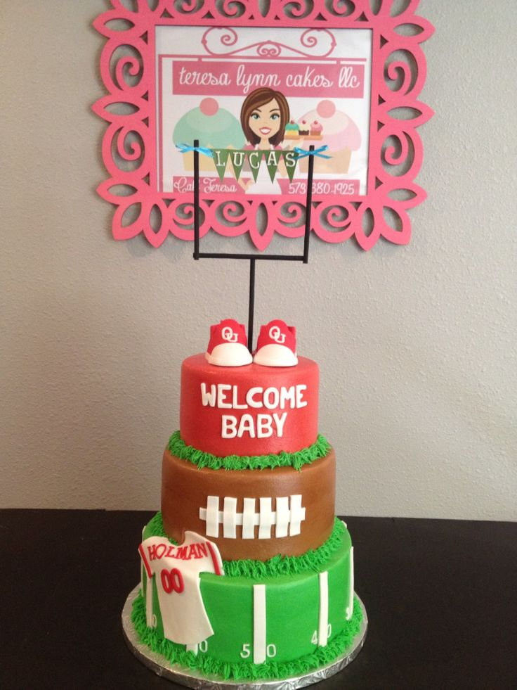 Baby Shower Football Themed Birthday Cakes I Have Made