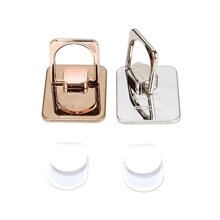 GrippIT Ring Stand 2-pack Cell Phone and Tablet Holders - Silver/Rose Gold