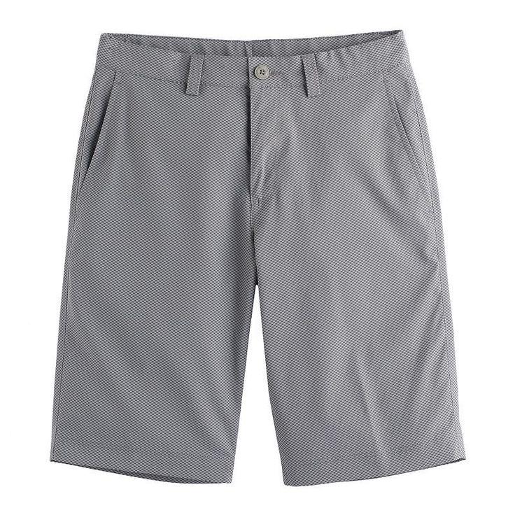 Boys 8-20 PGA Tour Birdseye Flat-Front Golf Shorts, Size: Xl 18-20, Med Grey