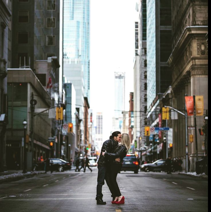 King and Veronica's Downtown Toronto Engagement Shoot by Michael Fantauzzi. City of Toronto in Ontario #carengwedding2016