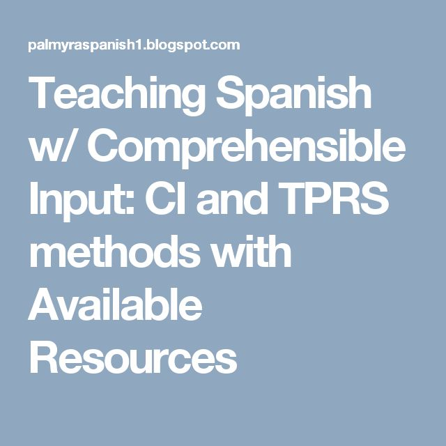 78 best tprs images on pinterest spanish classroom spanish class teaching spanish w comprehensible input ci and tprs methods with available resources fandeluxe Image collections