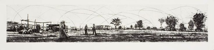 "An original etching by Phillemon Hlungwani entitled: ""A hi tshameni hi ku rhula ka II"", etching Ed of 10, 63.5 x 78 cm #Hlungwani #PhillemonHlungwani #Etching #BlackAndWhite #SouthAfricanArtist #SouthAfricanArt #FineArt #Art For more please visit: www.finearts.co.za"