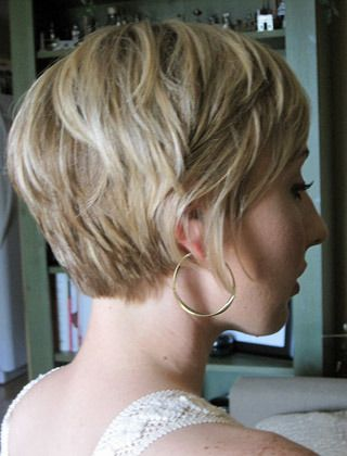 Sassy short hairstyle the back would be perfect for growing out a pixie. have to beware of the mullet