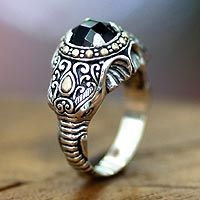 Men's onyx ring, 'Elephant Warrior'.  $182.95 http://jewelry.novica.com/rings/mens-jewelry/bali-and-java/mens-onyx-ring-elephant-warrior/187841/