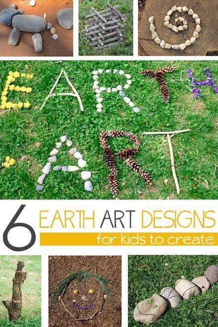 6 ways to make art using nature - Earth Art!