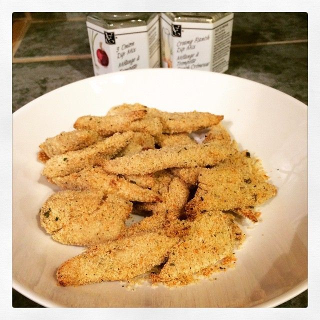 Food And Decor — Homemade chicken strips are easy to make with a...