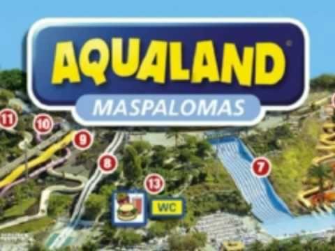 AQUALAND Maspalomas Gran Canaria - Water Park Fun for everyone - YouTube