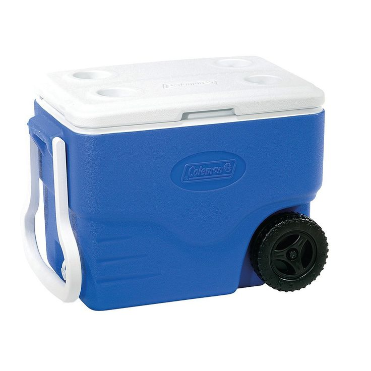 Coleman 40 qt wheeled cooler with beverage tray dont