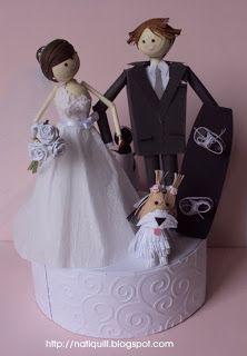 Topo de Bolode Casamento/ Top wedding cake by Natilde Andrade