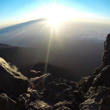Sunrise over Mount Meru in Arusha National Park