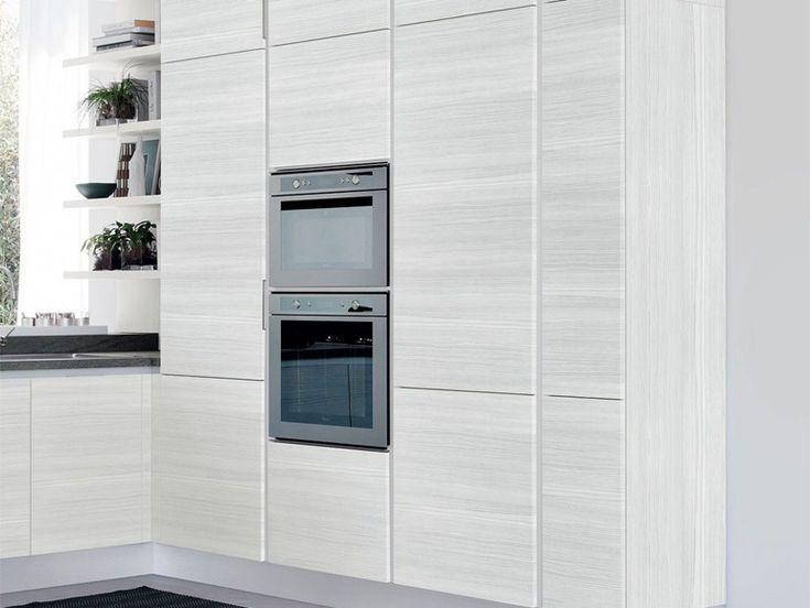Cucina componibile in legno senza maniglie cucina - Cucina senza maniglie ...