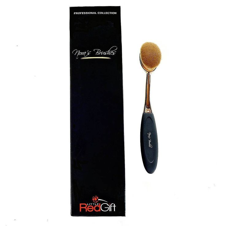 Oval Brush Size 4#  The Original Nora's Brush  Soft Toothbrush Makeup  Foundation Concealer Contour Powder Blush http://amzn.to/2rV1EbU #LittleRedGift