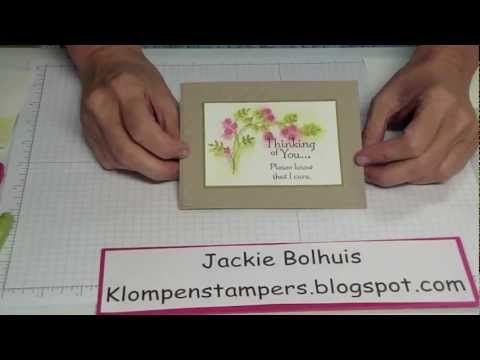 1st in a series--each Tuesday you will learn a new quick & easy Stampin' technique!  Dazzle your friends with awesome cards!