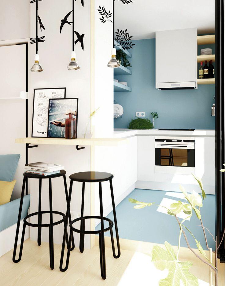 Проект однокомнатной квартиры в хрущевке. Дизайнер Матвеева Екатерина