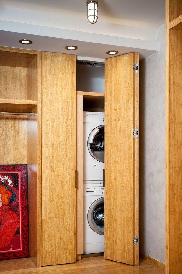 Lavandería oculta en armario