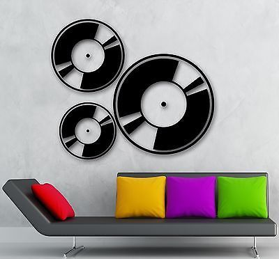 Wall Stickers Vinyl Decal Music Musician Record Disc Retro Style (ig989)