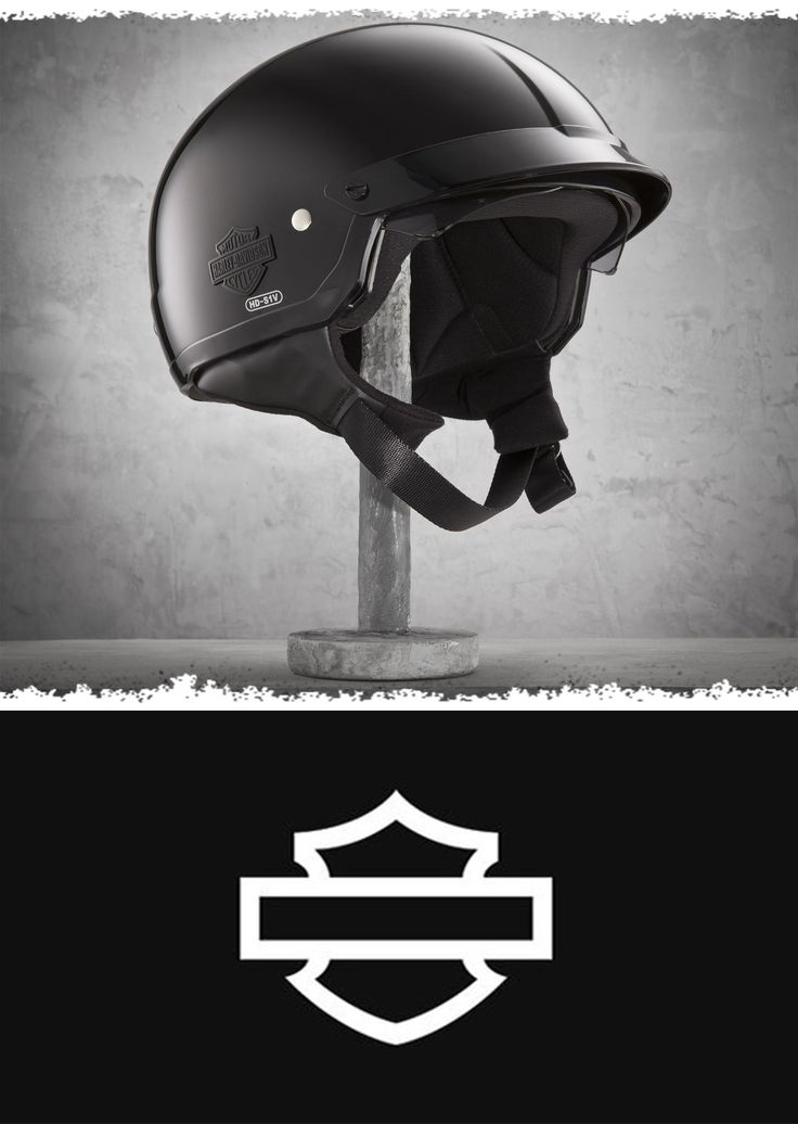 Features a pull-down sun visor that stows in the helmet easily when not in use. | Harley-Davidson Half Helmet with Shield