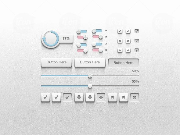 This set of form elements looks extremely sexy with those shadows, decent 3d appearance & polished terminations.    With forms featuring this set, clients would be playing all day long with it.    #form #ui #button #gauge #radio #checkbox #web #webdev