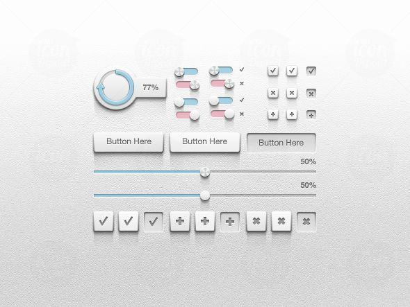 Detailed UI Kit - Free PSD
