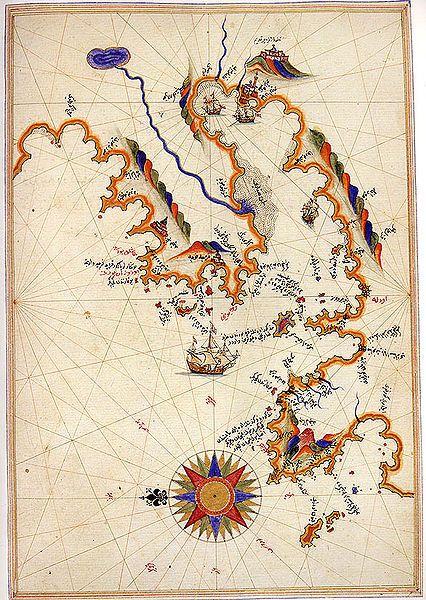 Map of Smyrna by Piri Reis