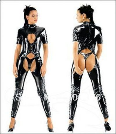 ==> [Free Shipping] Buy Best free shipping FAUX LEATHER PVC CATSUIT FANCY DRESS OPEN CROTCH FETISH LEATHER CATSUIT Online with LOWEST Price | 1886385180