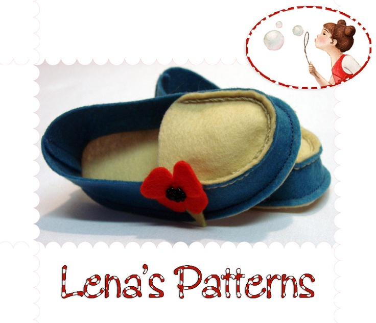 Wool Felt Baby Mocs Sewing Pattern - PDF