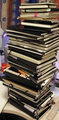Moleskine, Moleskine, Moleskine!  Can't wait to run our writing workshop and give away some brand new Moleskine babies!
