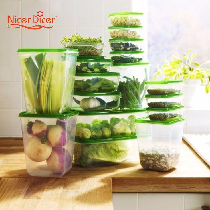 1 160,84 руб Горячая распродажа 17 шт./компл.  Пластиковие Контейнеры для еды коробки для  хранения продуктов питания запечатаны четкое в холодильнике сохранение коробка контейнер кухонные принадлежности купить на AliExpress