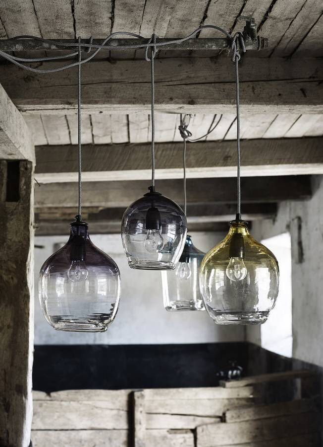 I've just found Smoke Ombre Bubble Glass Lamp. Contemporary glass bubble lamp from Nordal. £64.95