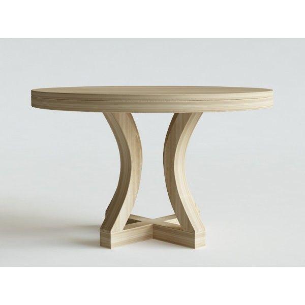 LUKA stół okrągły rozkładany, wymiary - Iwona Kosicka Design