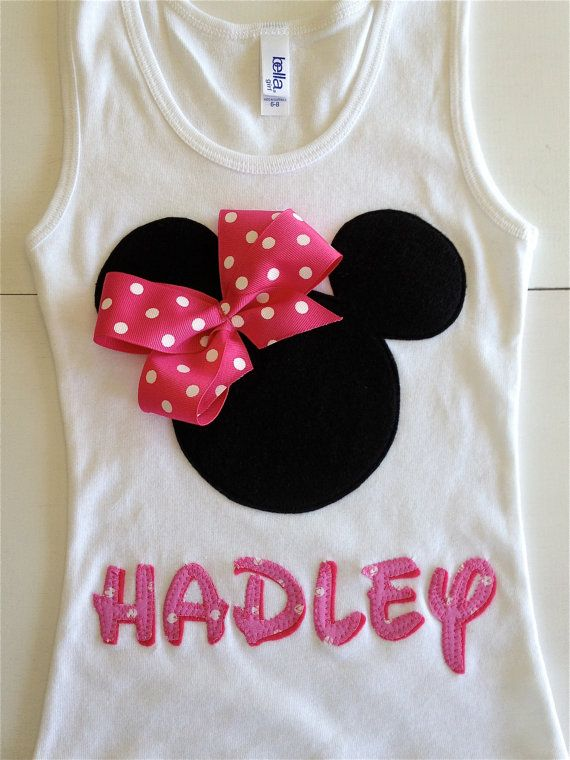 Minnie Mouse Personalized Tank Disney Trip by TwoByTuTuCreations, $30.00