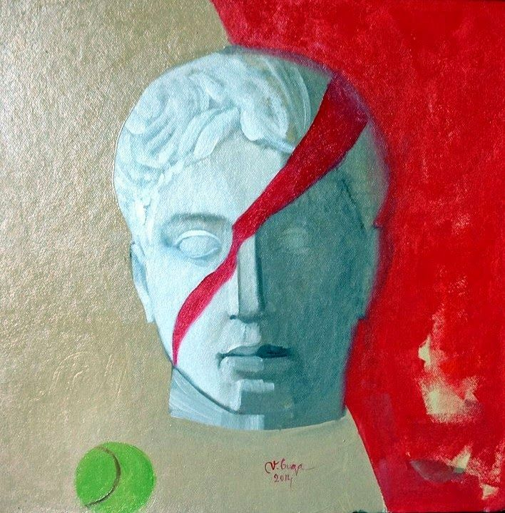 Art by Viorica Buga: Doriforul, oil on cardboard,