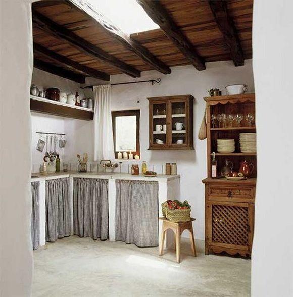 modelo de cocina rustica...acá el diferencial es la simplicidad...