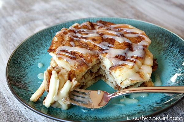 Cinnamon Roll Pancakes: CINNAMON FILLING: 4 T unsalted butter, just melted (not