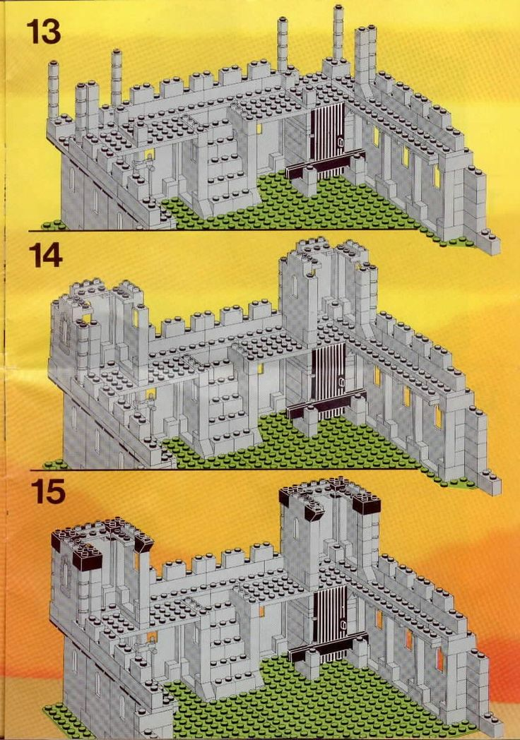 lego castle instructions 6080