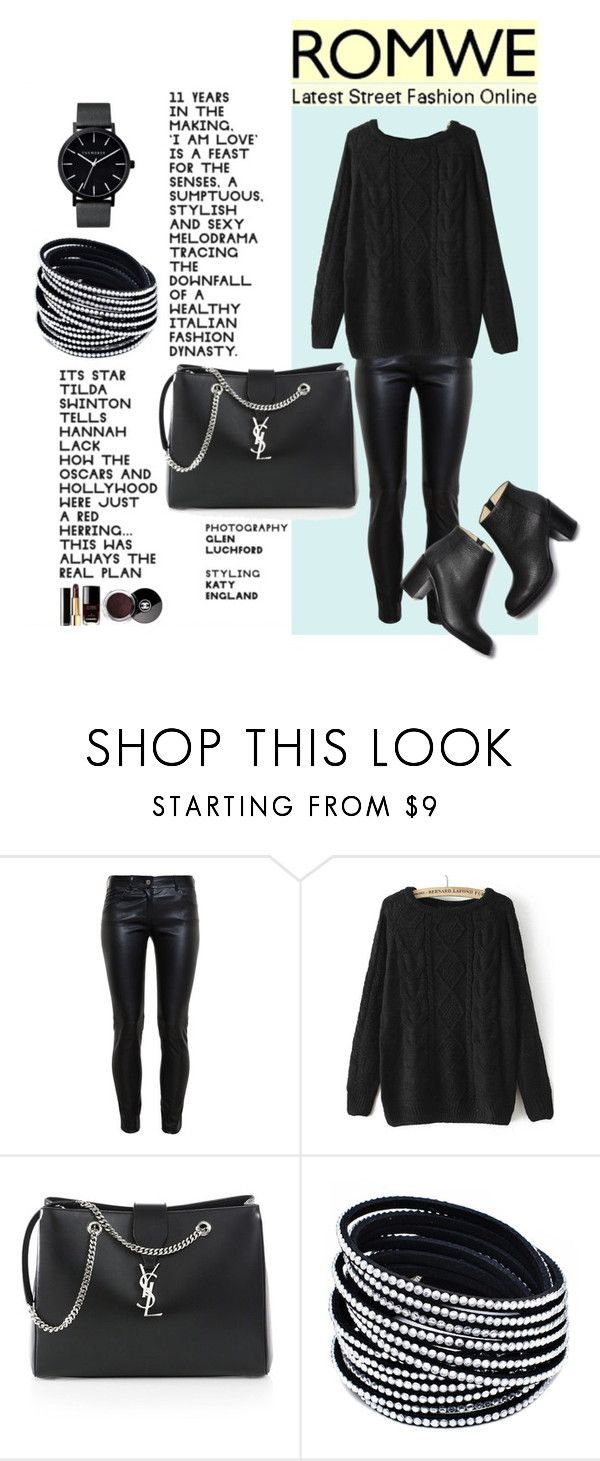 East-insp Sweater with Romwe.com by adriana-claudia on Polyvore featuring Balenciaga, Yves Saint Laurent, The Horse, Paul Andrew, Chanel and crazyforfashion