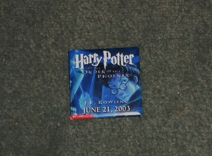 HARRY POTTER & the ORDER of the PHOENIX June 21, 2003 Book Release Date Pin, GUC