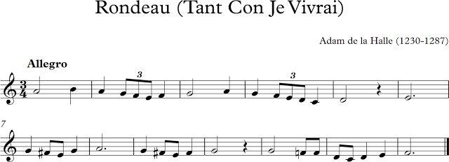 Descubriendo la Música. Partituras para Flauta Dulce o de Pico.: Rondeau (Tant…