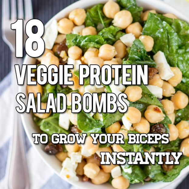 18 Vegan and Vegetarian High Protein Salads | hurrythefoodup.com