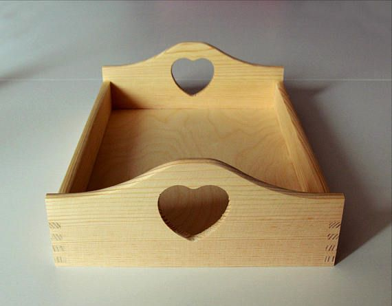 Large Trays-Unfinished Tray-Breakfast Tray-Untreated Wood
