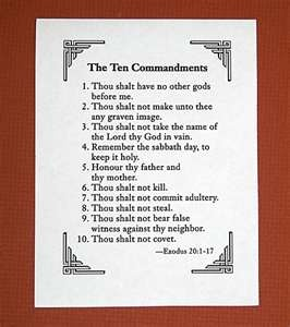 the spiritual emphasis and teachings of the ten commandments If so, when did the ten commandments become a focus of christian  and a  great deal of moral teaching drawn from various biblical and.