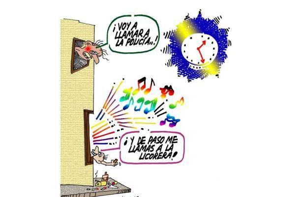 Critica a los vecinos molestos y a al policía porque no soluciona. 2013, 4 de mayo.
