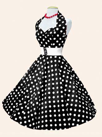 Vivien of Holloway Black White Polka Dress Size10