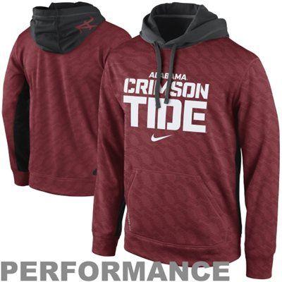 Nike Alabama Crimson Tide KO Performance Hoodie - Crimson