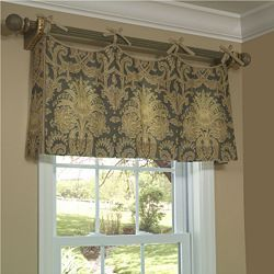 Scalloped Tie Top Valance - Bedroom Curtain Idea for Mom