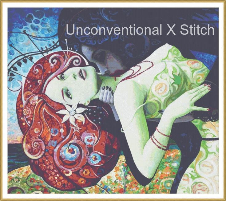 My Summer Wine LARGEW vampire cross stitch pattern - licensed Borda Danut Adrian by UnconventionalX on Etsy